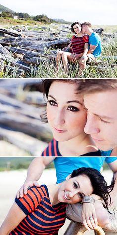 engagement of the gorgeous Dustin + Desiree... Rockaway Beach Oregon