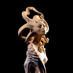 Banshee, or Bean Sidhe — Forest Rogers Mermaid Sculpture, Mermaid Art, Sculpture Art, Art Nouveau, Marionette, Polymer Clay Sculptures, Fantasy Creatures, Creative Art, Art Dolls