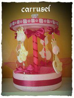 dulcero-carrusel baby shower de niña