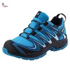 Salomon Xa Pro 3d Cswp J, Chaussures de Trail Mixte Enfant, Bleu (Hawaiian Surf/Mykonos Blue/Navy Bla), 37 EU - Chaussures salomon (*Partner-Link)
