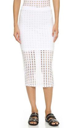 T by Alexander Wang Circular Knit Pencil Skirt