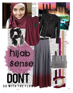 """""""Don't Go with the Flow"""" by hijab-sense ❤ liked on Polyvore featuring So Nice, AllSaints, Wet Seal, Mossimo, Cédric Charlier, Zalando and Prada"""