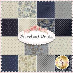Snowbird Prints 15 FQ Set By Laundry Basket For Moda Fabrics: Snowbird by Laundry Basket for Moda Fabrics. 100% Cotton. This set contains 15 fat quarters, each measuring approximately 18