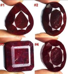 417 Ct/4 Pc 100% Natural Top Quality Red Ruby Pendant Use Gemstone Free Shipping #GemsIndia