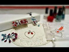 Flor de alambre y esmalte de uñas