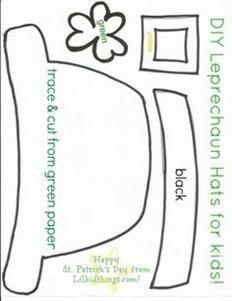 Patrick's Day crafts for kids {printables} DIY Leprechaun Hats for Kids. March Crafts, St Patrick's Day Crafts, Daycare Crafts, Classroom Crafts, Preschool Crafts, Diy Crafts, Craft Activities, Holiday Activities, Creative Crafts
