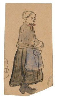 Jeune bretonne by Mogens Ballin