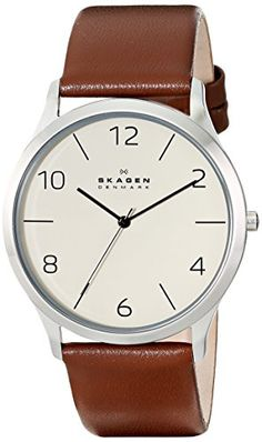 Skagen Men's SKW6150 Jorn Stainless Steel Watch with Brown Leather Band. Product details http://astore.amazon.com/usxproducts-20/detail/B00NBPXH9M