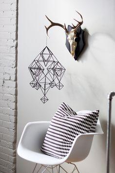 Detalhes que fazem a diferença na decoração. Detalhes em formas geométricas!  (Foto: Monta Casa)