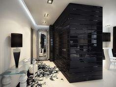 Elegant black & white home interior design