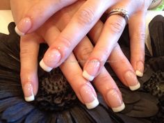 Acrylic nails with French gel polish. simple!