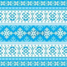 Traditionelle Weihnachten gestrickt dekorative Winter Hintergrund mit Schneeflocken