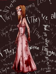 carrie by vhe-splatter on DeviantArt Carrie The Musical, Carrie Movie, Carrie Stephen King, Stephen King Movies, Arte Horror, Horror Art, Fanart, Scary Movies, Horror Movies