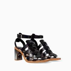 Image 2 of HIGH HEEL SANDAL WITH BUCKLES from Zara