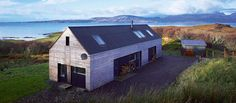 The Shed Tokavaig, a beautiful architect-designed holiday cottage on the north side of Sleat. Fantastic views to the Cuillins and towards Rhum and Canna. Self Build House Kits, Self Build Houses, House Plans, Shed Homes, Kit Homes, Style At Home, Building Design, Building A House, Building Ideas