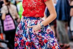 Lace and florals