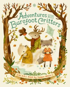 This is the sweetest ABC book.  Lovely illustrations take you through the seasons and the different adventures these critter friends go on.  My son loved this book and wanted to fly a kite after reading it.