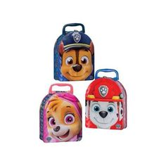Tin Box Co Carry All Embssd Arch Paw Patrol Astd