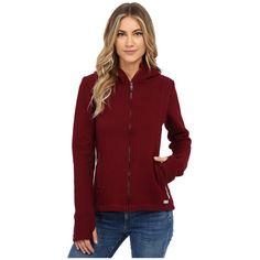 Bench Dearby 11 Short Slim Hoodie Women's Sweatshirt ($99) ❤ liked on Polyvore featuring tops, hoodies, full zip hoodie, fleece lined hoodie, zip hoodie sweatshirt, hooded sweatshirt and sweat shirts