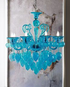 love this turquoise chandelier