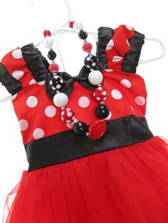 $54.99 etsy Red Minnie Mouse 1st Birthday Party Outfit by PartyStylingsofMandy