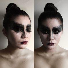 Black swan inspired makeup.