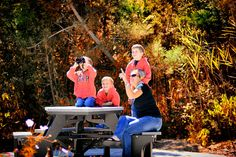 bird watching on the trails in fall. Leaves, foliage, Cape May Point, Ocean City, Jersey Cape, Cape May County, New Jersey