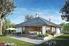 Projekt domu parterowego KRASKA - wizualizacja 4