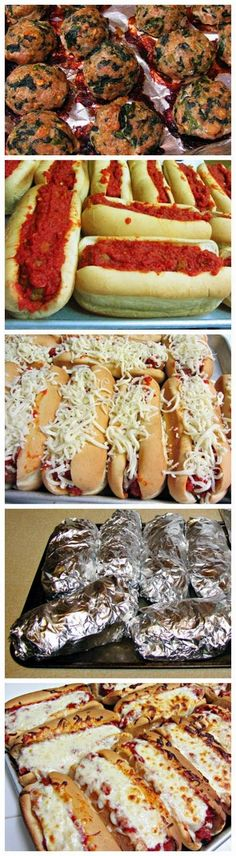 Yum yum ~ Oven Baked Meatball Sandwiches ~ Enjoy!