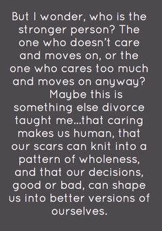 What divorce taught me.
