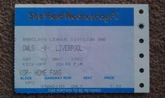 Sheffield Wednesday V Liverpool. Liverpool Football Tickets, Sheffield Wednesday, Champions League, Premier League