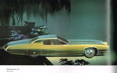 This design drawing by Wayne Kady may be the earliest to present themes seen in the production 1967 Eldorado.