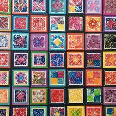 Alhambra prints #artshow #alhambra #printing #blockprinting #linocut #arteducation #primaryart #clil #spanishthroughart