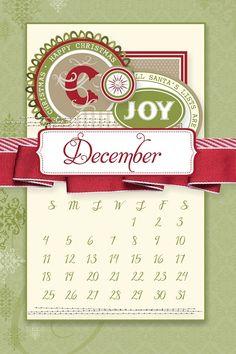 December 2016 Desktop Calendars | Swimming In Stamps