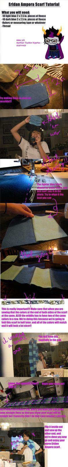 Homestuck Eridan/RoxyScarf Tutorial by GentlemanlySpam.deviantart.com on @deviantART need a new scarf? make it homestuck!