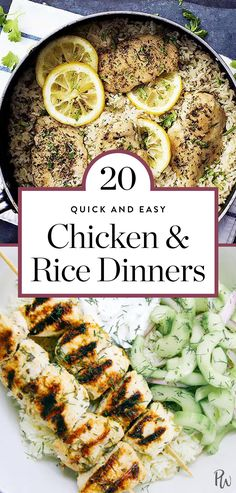 Chicken and rice always delivers speed and big flavor. The whole family will gobble it up and more often than not it only gets a single dish dirty. Leftover Chicken Recipes, Best Chicken Recipes, Paella, Cooking Recipes, Healthy Recipes, Healthy Foods, Yummy Recipes, Easy Cooking, Yummy Yummy