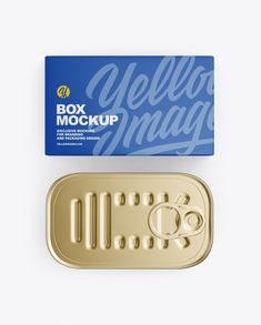 Box with Tin Can Mockup. Contains special layers and smart objects on the box and on the can for your creative work. The item is presented in a top view. Phone Mockup, Box Mockup, Mockup Templates, Billboard Signs, Free Boxes, Creative Words, Tin Cans, Top View, Layers