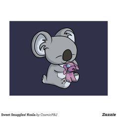 Sweet Snuggles! Koala Postcard