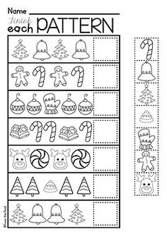 Christmas Activities for Kindergarten {Math and Literacy No Prep Printables} Christmas Math for Preschool and Kindergarten – printable and no prep Preschool Christmas Activities, Preschool Learning, Preschool Activities, Kindergarten Worksheets, In Kindergarten, Kindergarten Christmas, Christmas Maths, Christmas Crafts, Theme Noel