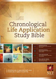 The four-color New Living Translation (NLT) Chronological Life Application Study Bible combines the proven resources of the Life Application Study Bible with a chronological format and several brand-new resources, making it easier to read and understand.