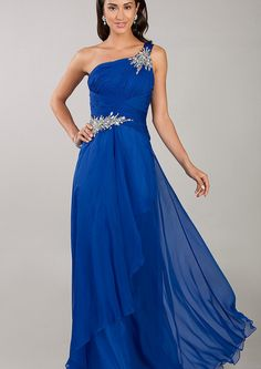 US$139.99 Wholesale A-line One-shoulder Blue Prom Dress /Formal Dress/Homecoming dress Temptation TE-3032 from - US.homecomingnightgirl.com