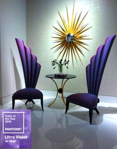 Starting the New Year with these selected CG seats featuring the #Pantone color of the year 2018: Ultra Violet #ChristopherGuy #purple #PantoneColorOfTheYear2018 #pantone2018 #UltraViolet #interior #design #furniture #artdeco #luxury