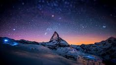 Matterhorn / Monte Cervino / Mont Cervin in Zermatt, Switzerland Zermatt, Starry Night Sky, Night Skies, Sky Night, Night Lights, Night Time, Night Forest, Beautiful World, Beautiful Places