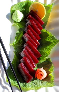 Thanksgiving Cranberry Jelly Sashimi #FallFest What if the old # ...