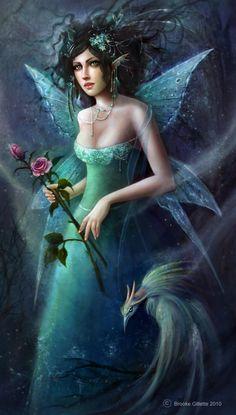 brooke gillette midnight-fae fairy digital photoshop original art painting fantasy