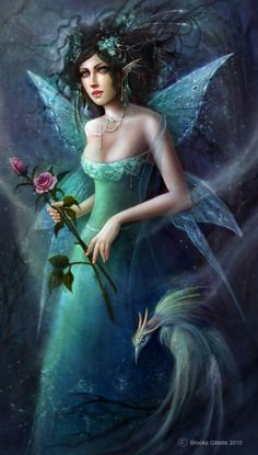 brooke gillette midnight-fae fairy digital photoshop original art painting fantasy