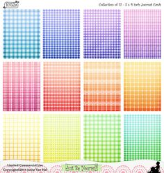 """AquamarineColored Printable Journal Cards Set of by JustBYourself. This set features 3 - 8.5 x 11 inch pages of 3 x 4"""" journal cards (4 journal cards per sheet for a total of 12 cards) with ten different patterns. This collection features 3 JPEGs and 1 PDF in 12 different ombre colors, including """"aquamarine."""" (1052a) $2.50"""