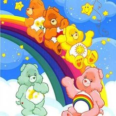 "Carebears, I loved this television serie in the 80's! In Holland we called them the ""troetelbeertjes"" :-)"