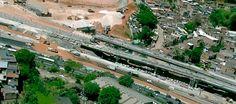 #LEIAMAIS  WWW.OBSERVADORINDEPENDENTE.COM - SALVADOR: Tubulação em obra do Metrô se rompe e deixa trânsito parado na BR-324
