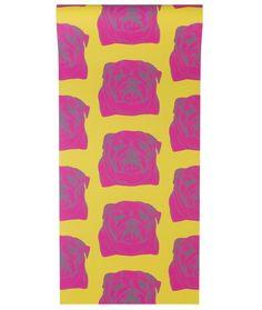 Bulldog Wallpaper in Pink (Graduate Collection) Bulldog Wallpaper, Stag Cushion, Enchanted Wood, Rug Texture, Print Wallpaper, Dog Design, Design Ideas, Traditional Design, Pop Art